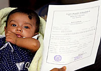 birth registration in Bangladesh