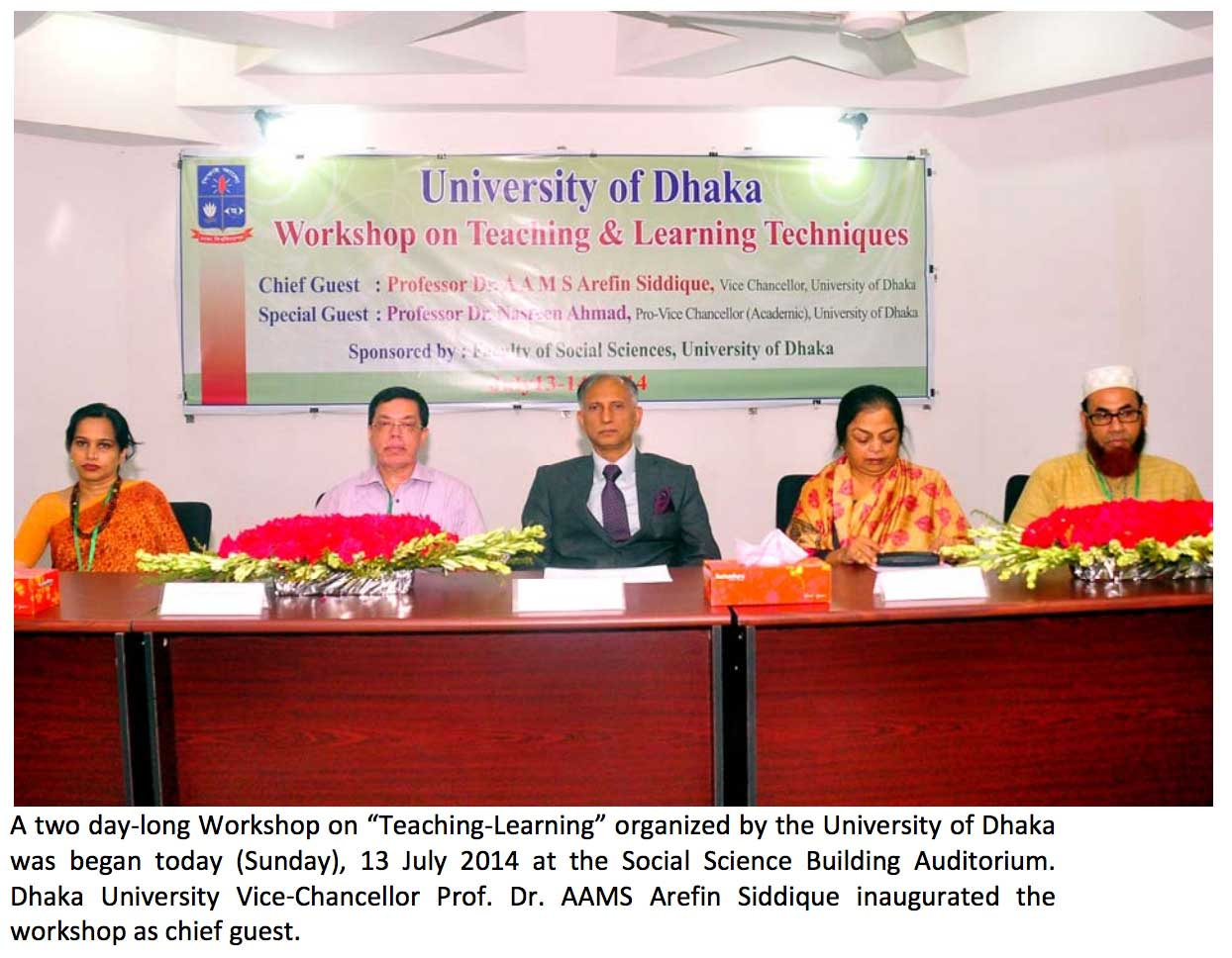 Two day long workshop held at Dhaka University